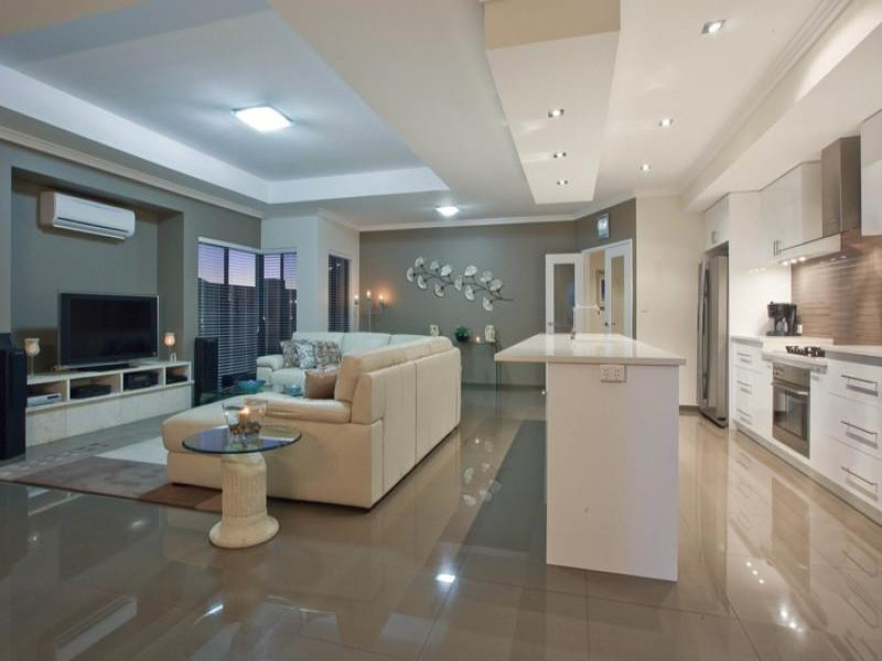 home with Polished Concrete Floors